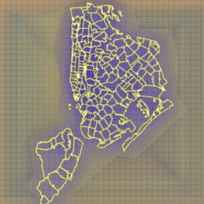 nyc map outline graphic